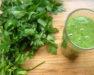 jus vert épinard persil